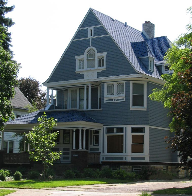 File shingle style architecture silk stocking district for One story queen anne