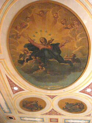 The Assumption of the Blessed Virgin is one of the many beautiful paintings that adorn the church.