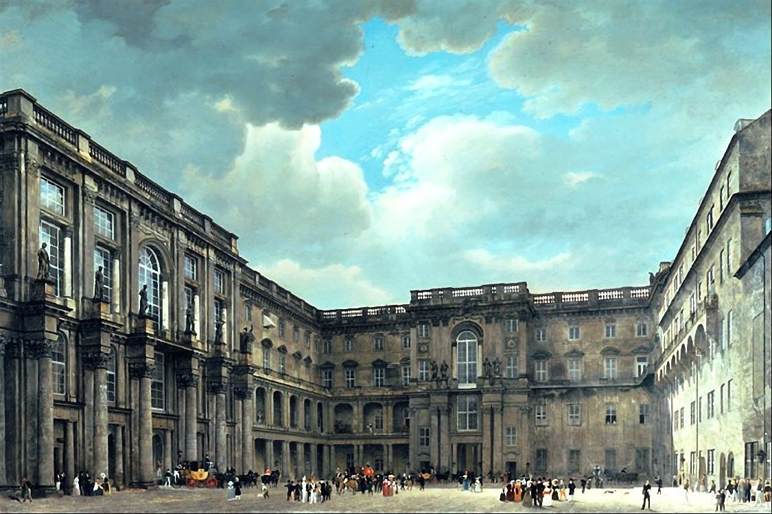 File:Stadtschloss Berlin, Schlueterhof, Gaertner, 1830.jpg ...