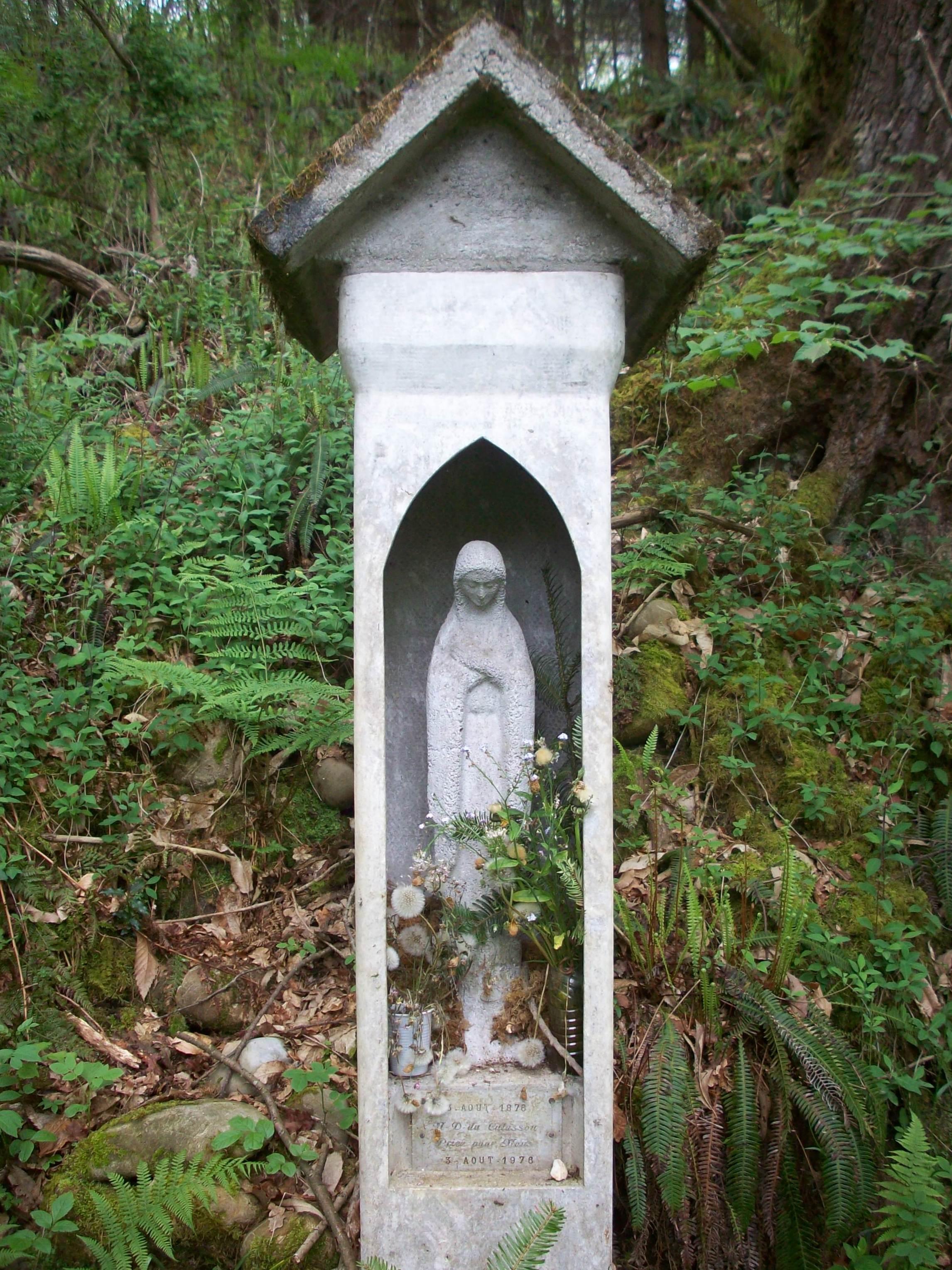 FichierStatue de la Vierge Marie, bois du Culassou  ~ Bois Lannemezan