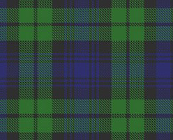 Woven tartan of Clan Campbell, Scotland.