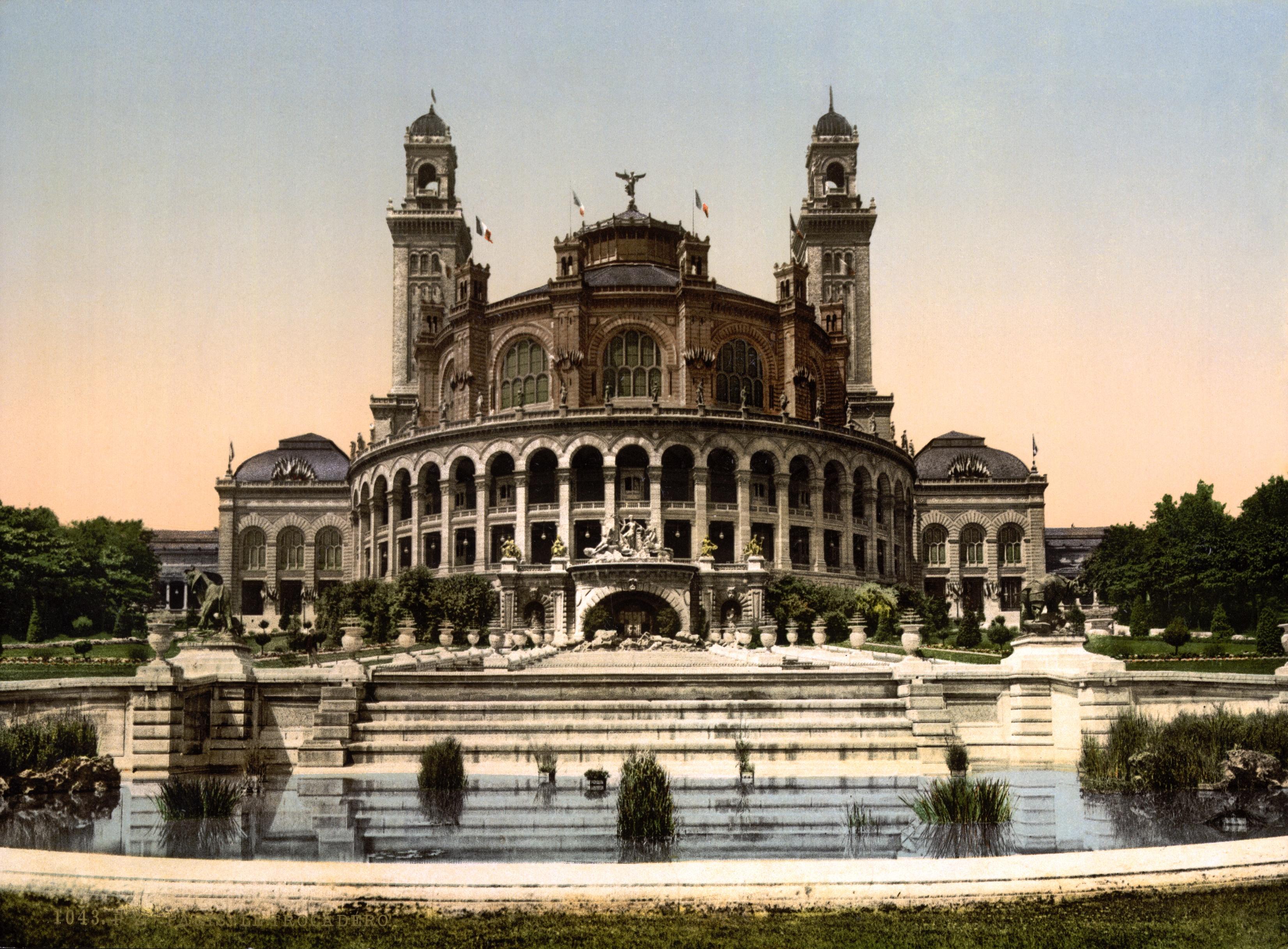 Fichier the trocadero exposition universal 1900 paris for Architecture a paris