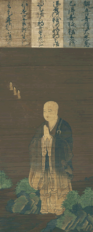 Painting of the Chinese priest and writer Shandao