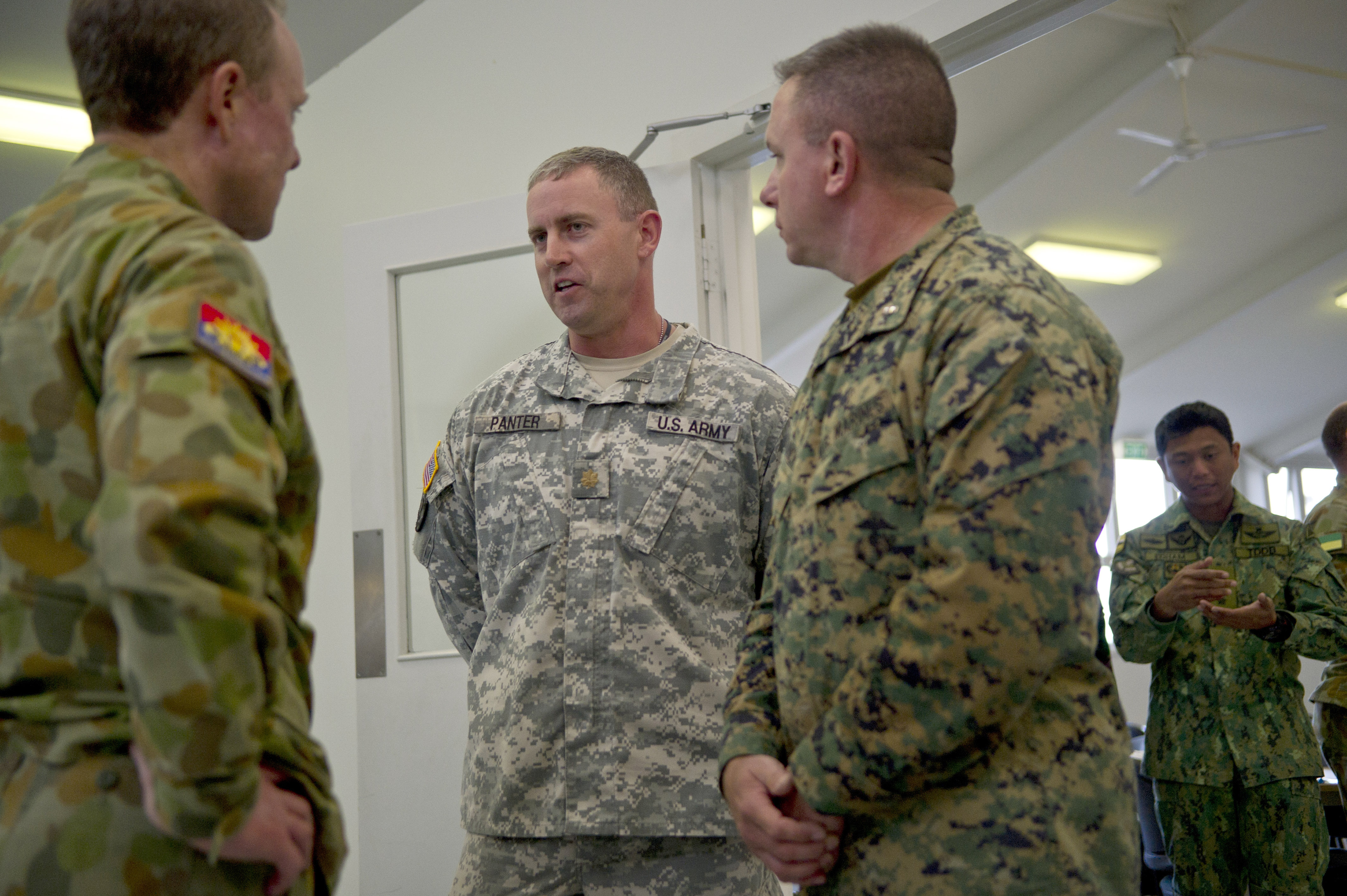 File:U.S. Army Maj. Brett Panter, center, with the 2nd Brigade ...