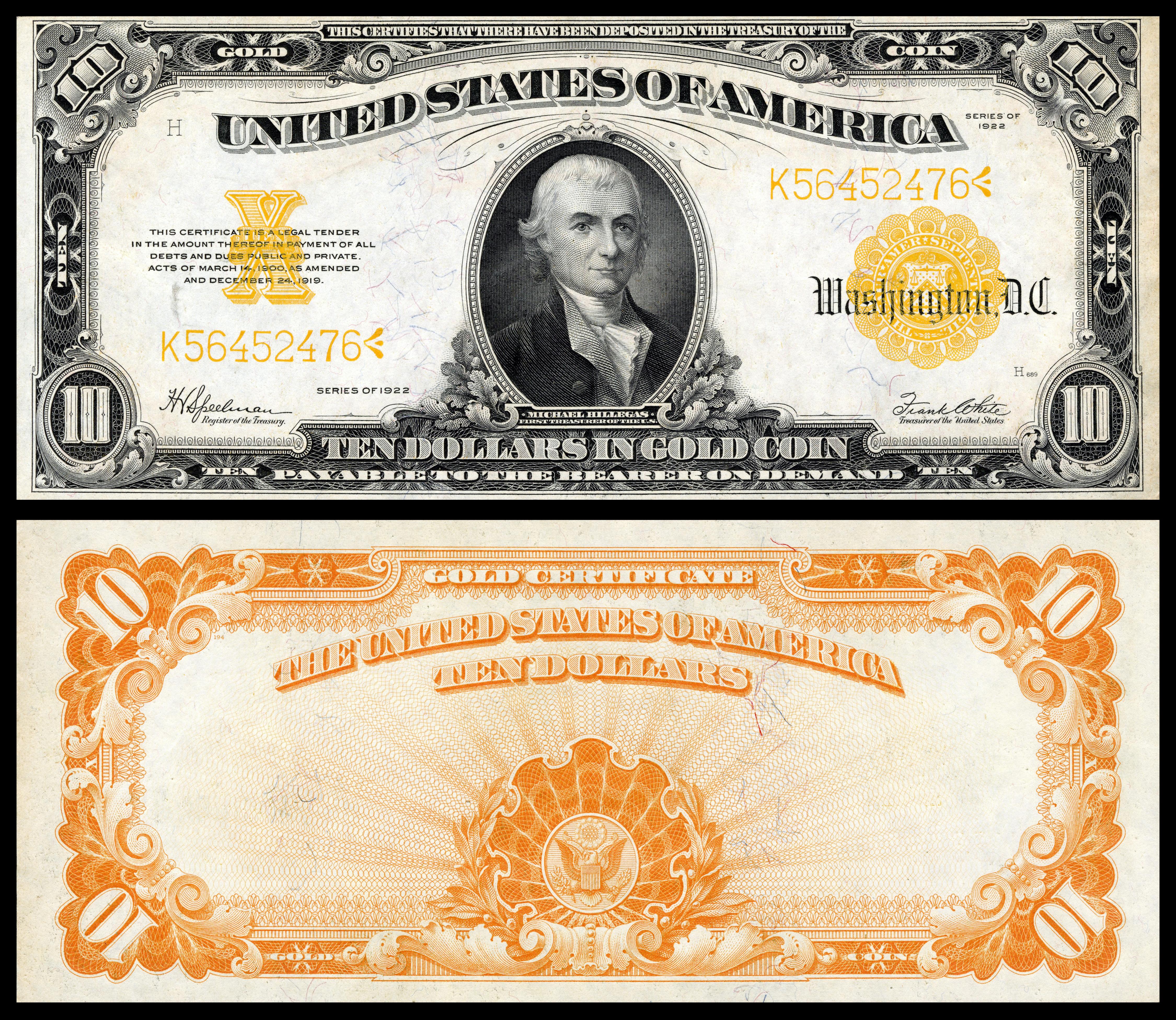 10goldcertificate.he..usedthegoldstandarduntil1934andcontrollednearlyhalfoftheglobalgoldsupplyduringtheinter-warperiod.