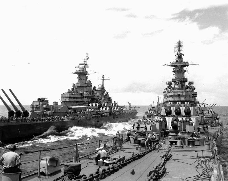USS Missouri transfers - Iowa's and Montana's missing AA mounts on #2 turret
