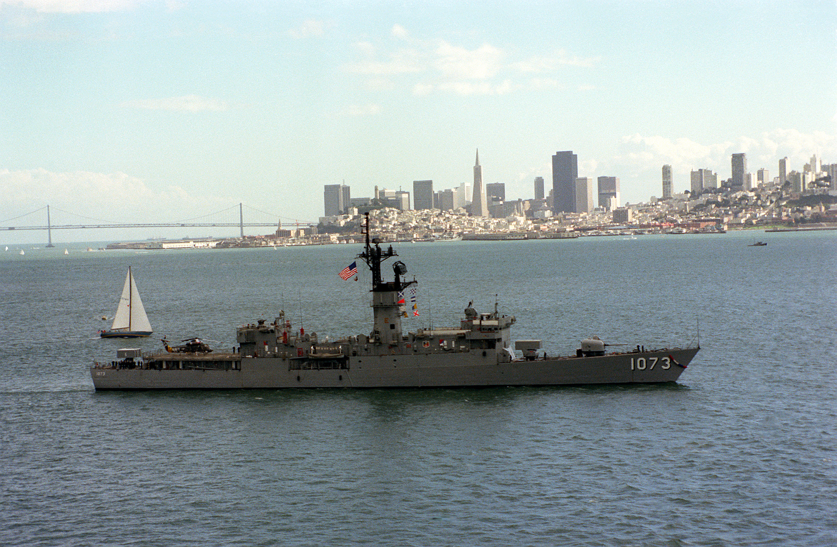 USN US Navy USS Kirk FF-1087 Frigate T-Shirt