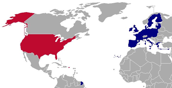 FileUnited States  European Union map newpng  Wikimedia Commons