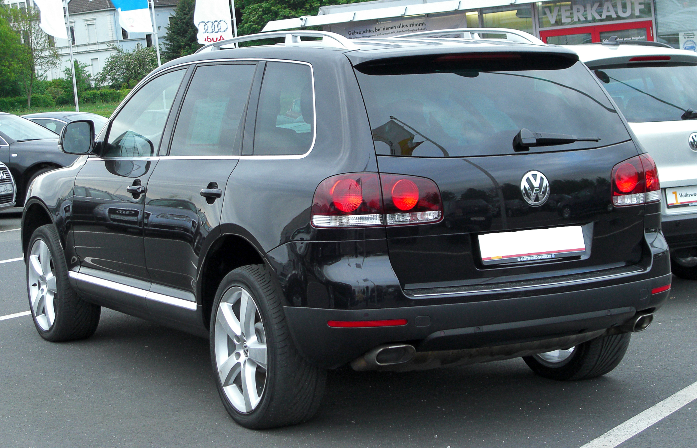 file vw touareg i v6 3 0 tdi facelift rear wikimedia commons. Black Bedroom Furniture Sets. Home Design Ideas
