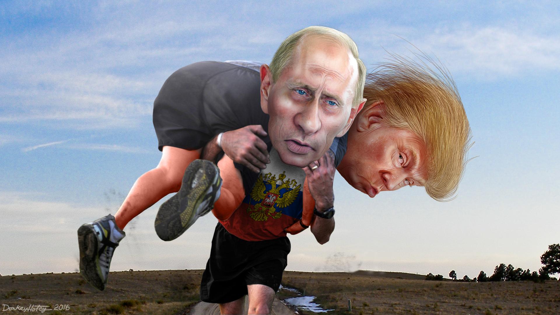 Trump & Putin Cartoon