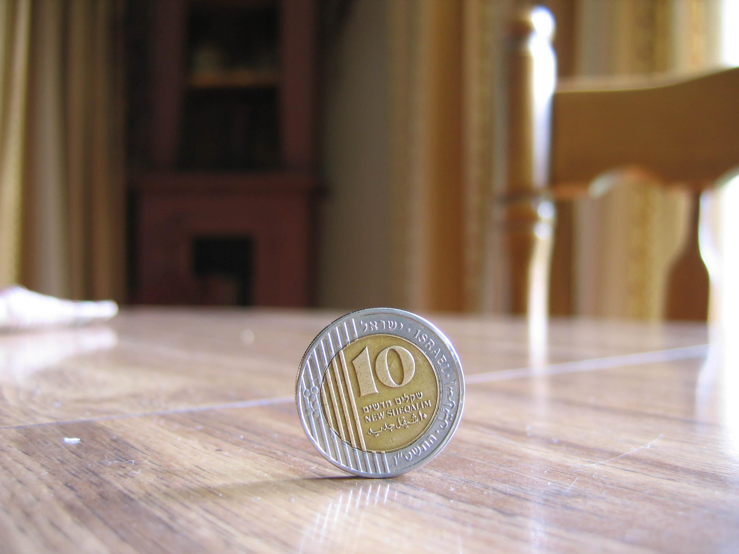 coin on edge