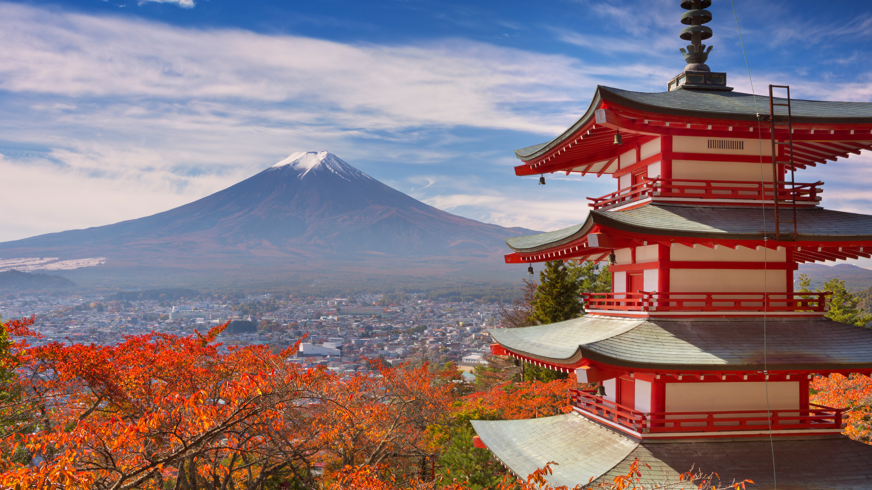 Chureito Pagoda and Mount Fuji photograph