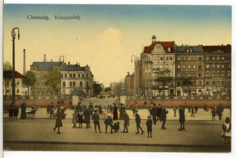 file 12146 chemnitz 1910 neust dter markt und bahnhofstra e br ck sohn. Black Bedroom Furniture Sets. Home Design Ideas