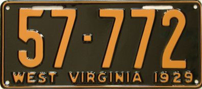 File:1929 West Virginia license plate.jpg