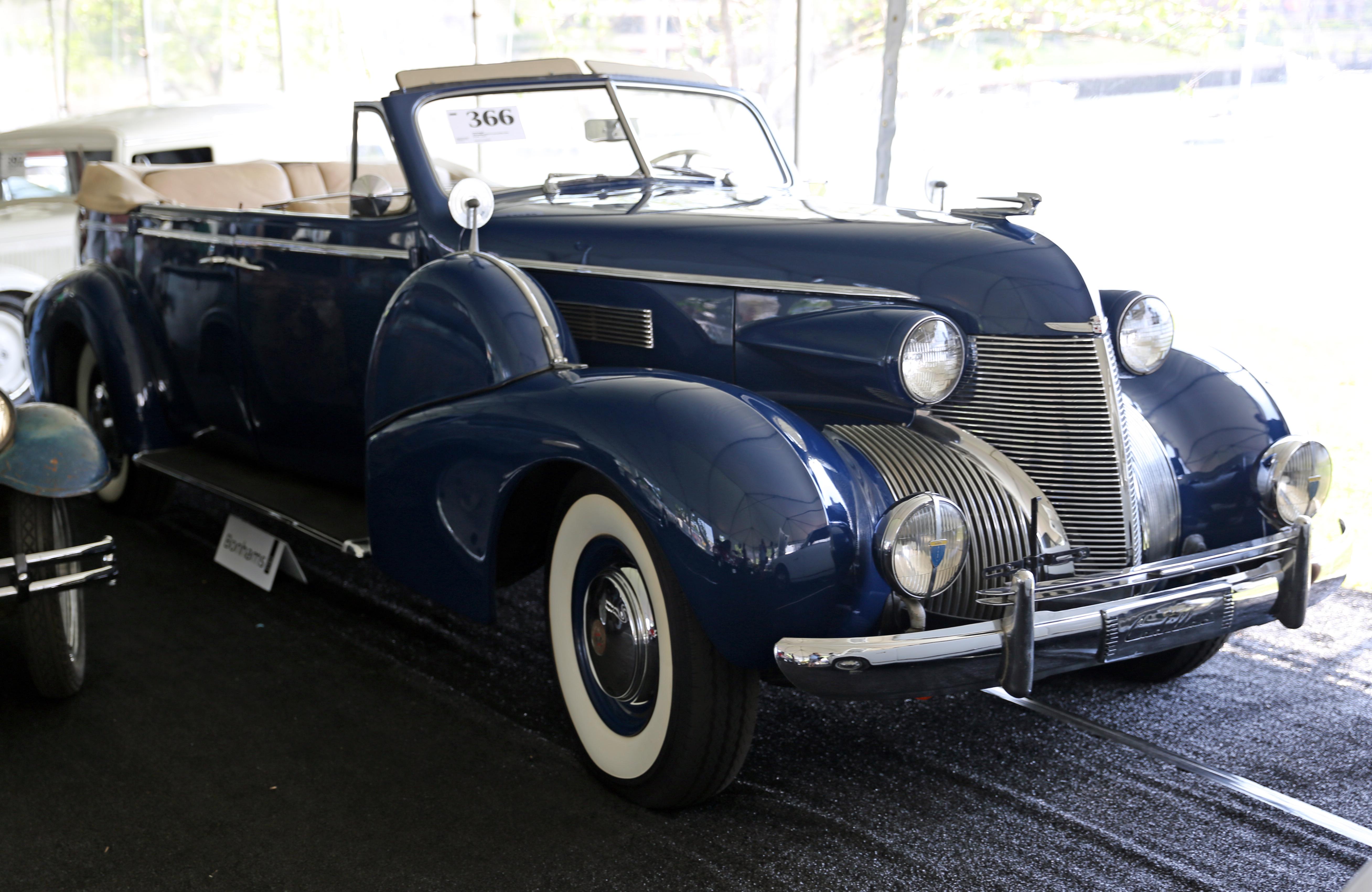 1939 cadillac lasalle convertible coupe