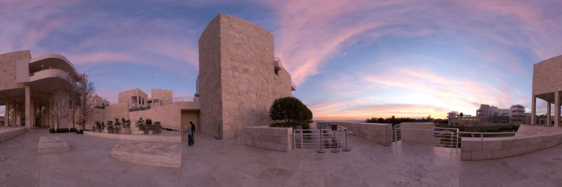 The Getty Center at dusk - From Wikipedia