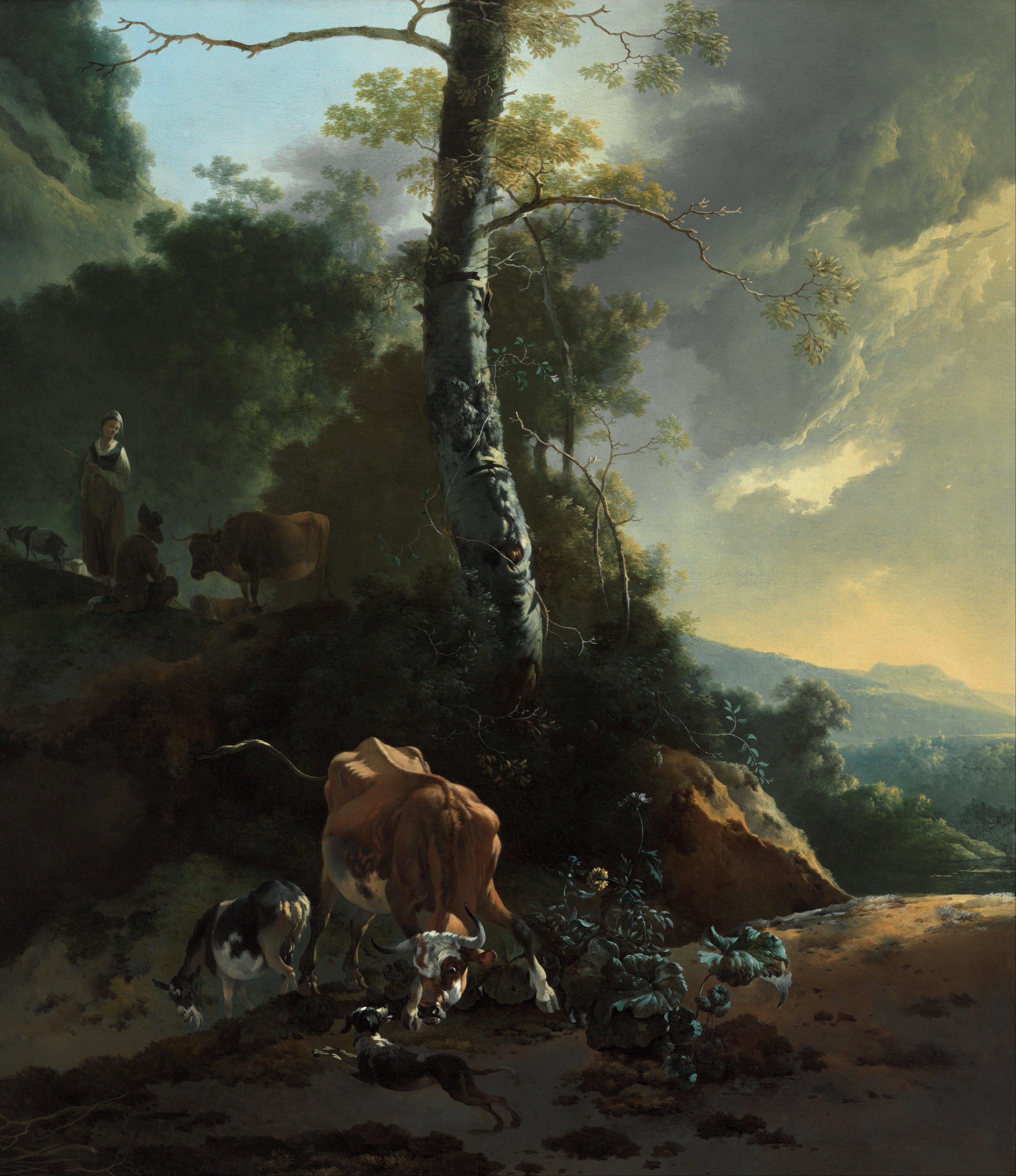 italian landscape with ox - photo #9