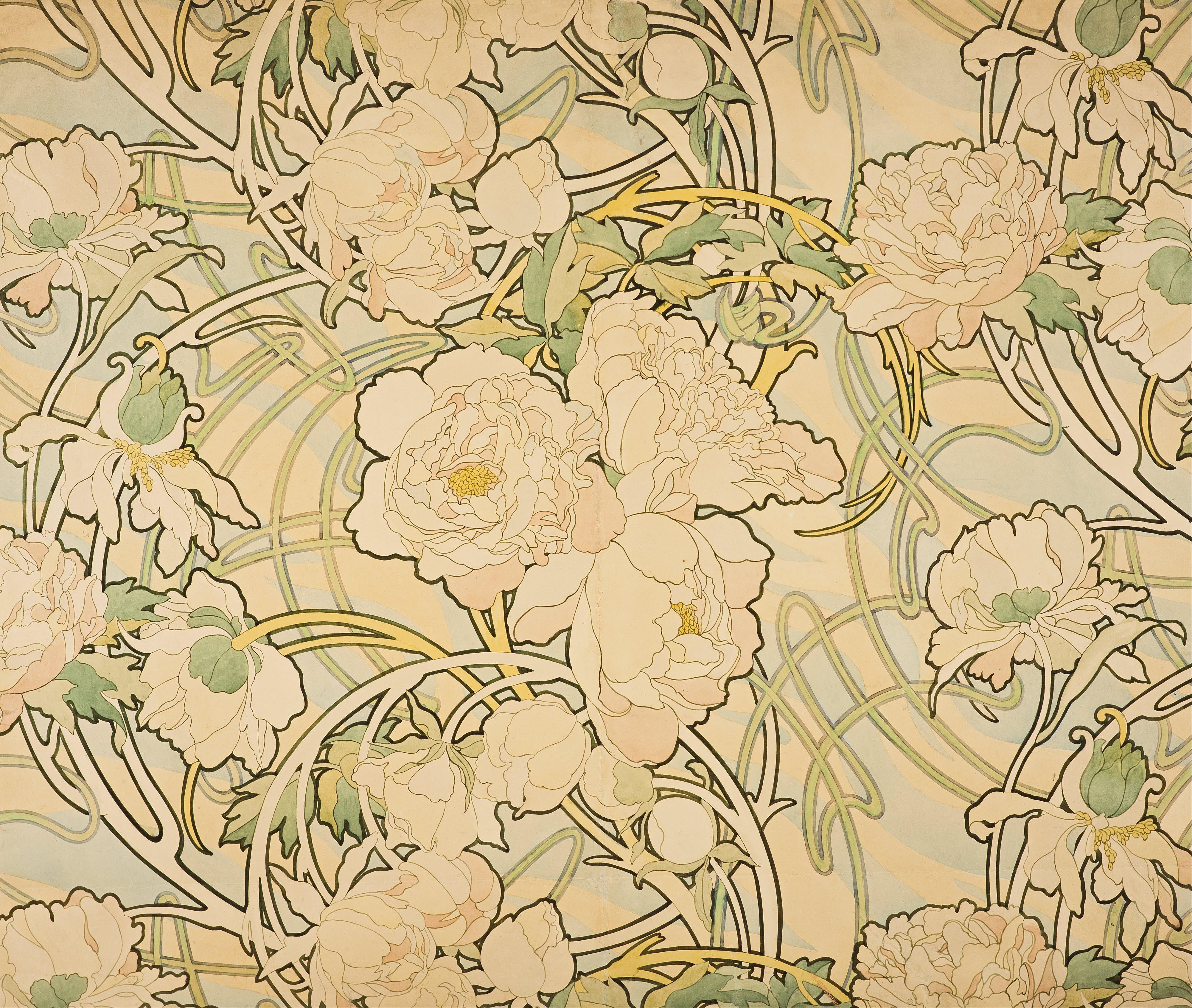 File:Alphonse Mucha - Peonies - Google Art Project.jpg