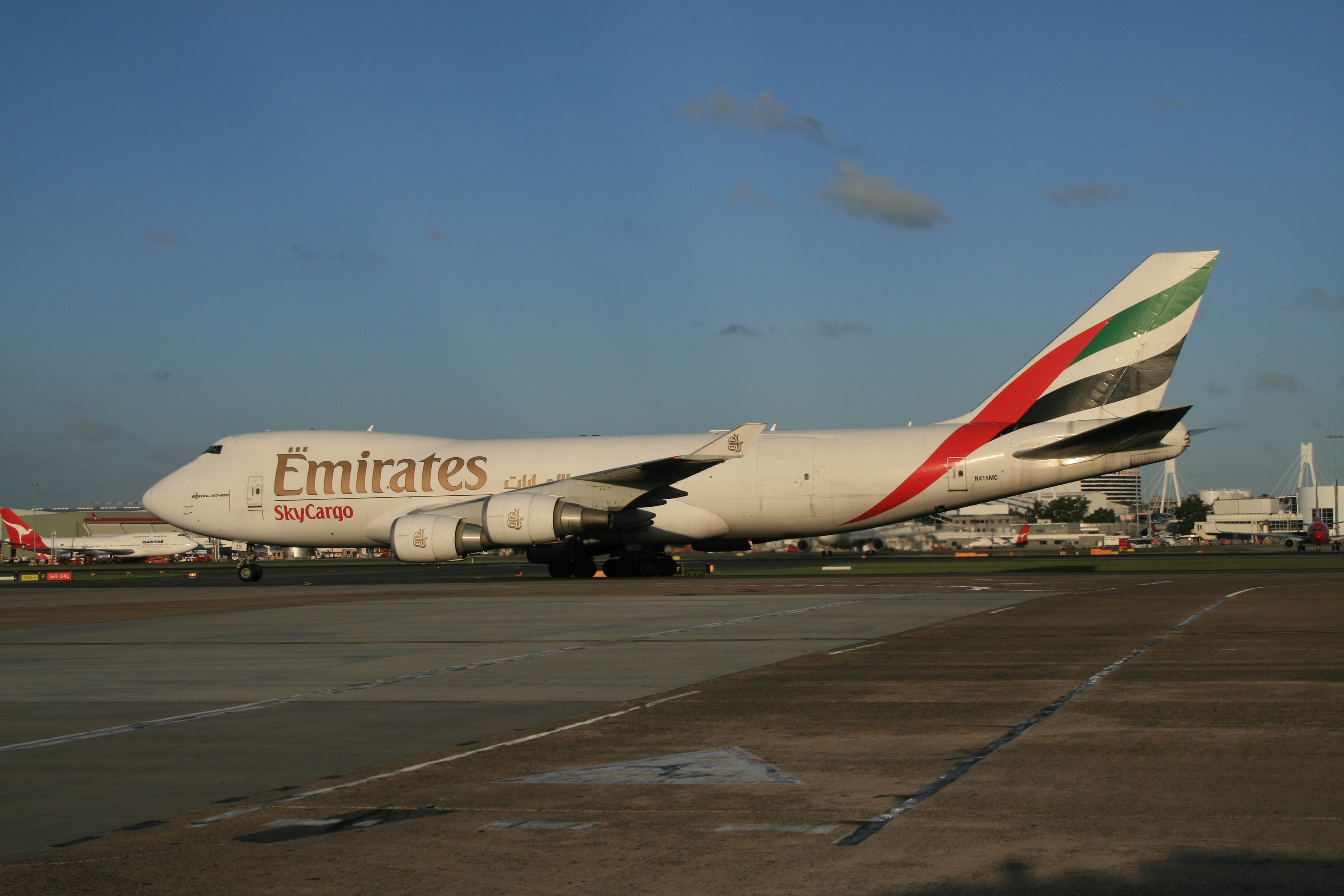 Atlas Air Boeing 747-400F in Emirates SkyCargo colours