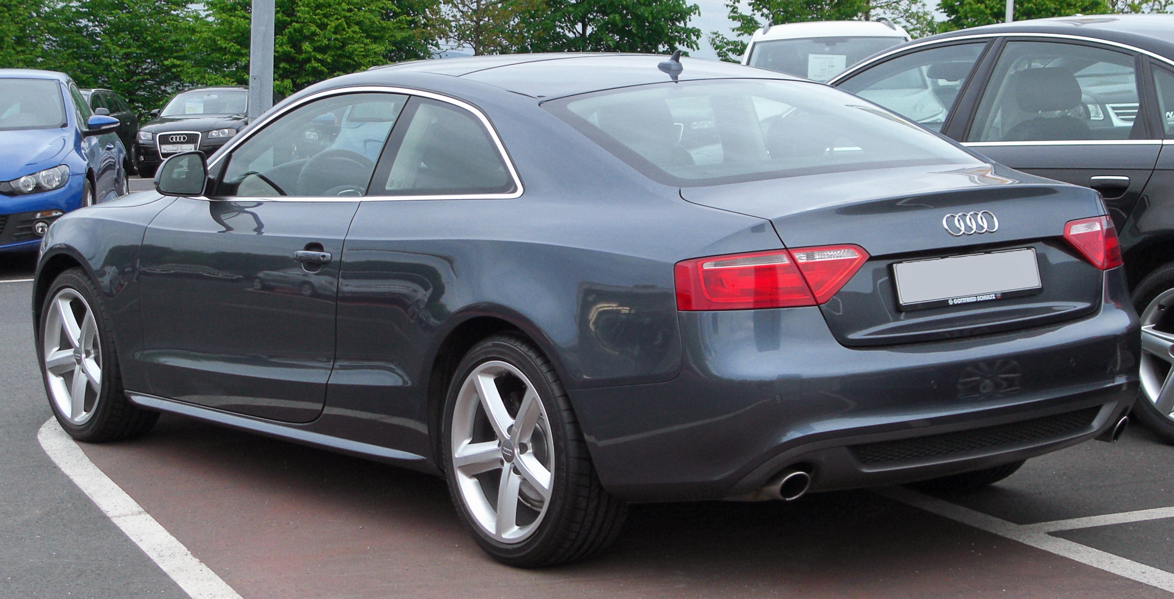 file audi a5 coup 3 2 fsi quattro s line rear wikimedia commons. Black Bedroom Furniture Sets. Home Design Ideas