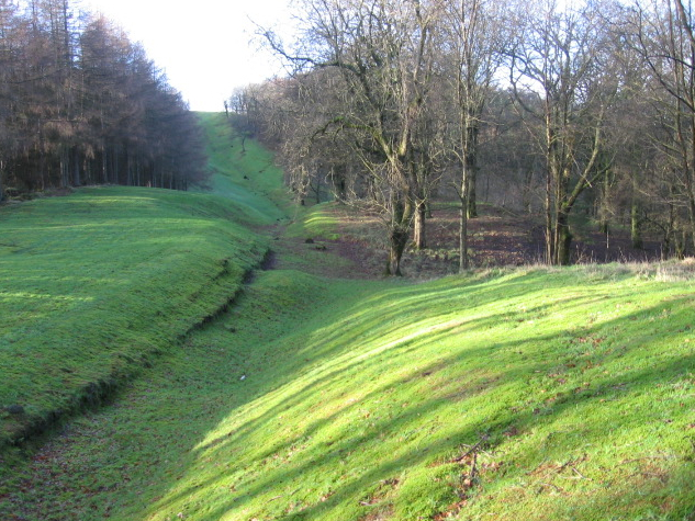 Course of the Antonine Wall near Bar Hill
