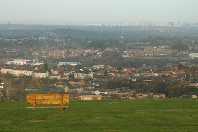 Bench on Beacon Hill, Lickey Hills Country Park - geograph.org.uk - 778421