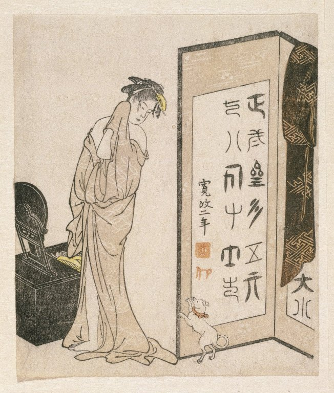 Brooklyn Museum - E-Goyomi (Lady Dressing)