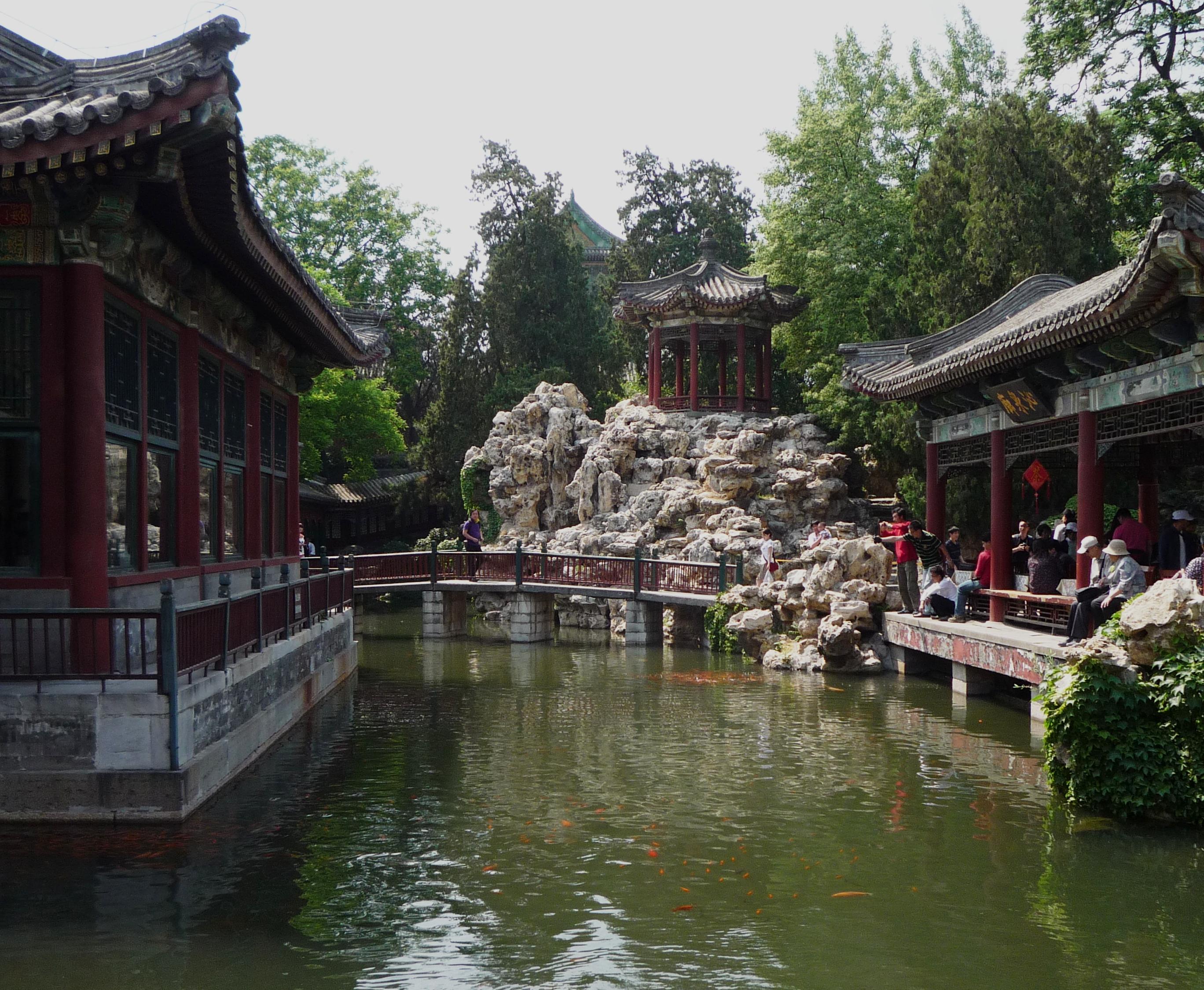 Beihai China  city pictures gallery : Chinese Garden in Beihai Park Wikimedia Commons