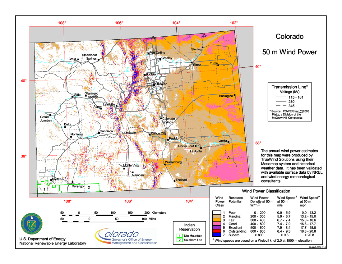 Wind Power In Colorado Wikipedia