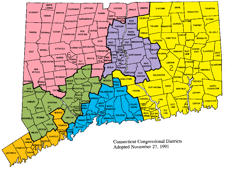 Connecticuts Th Congressional District Wikipedia - Printable map of us representatives districts