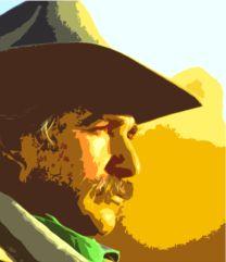 Visage de cowboy en profil