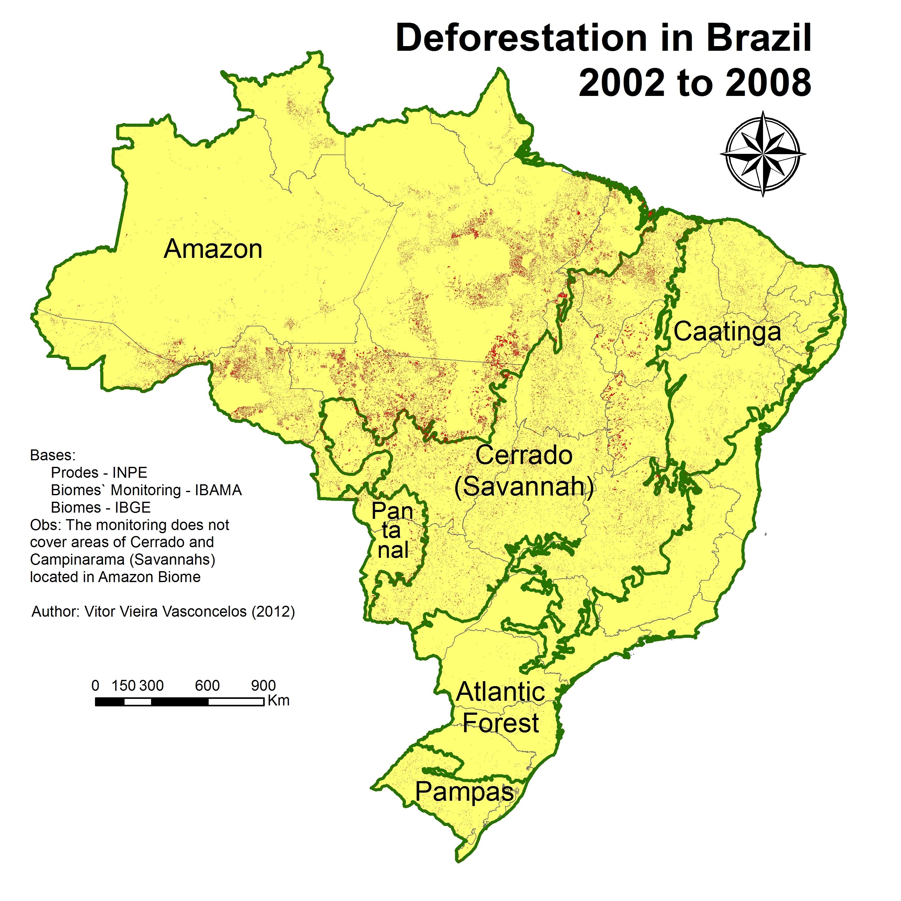 Deforestation In Brazil Map - Disneyland brazil map