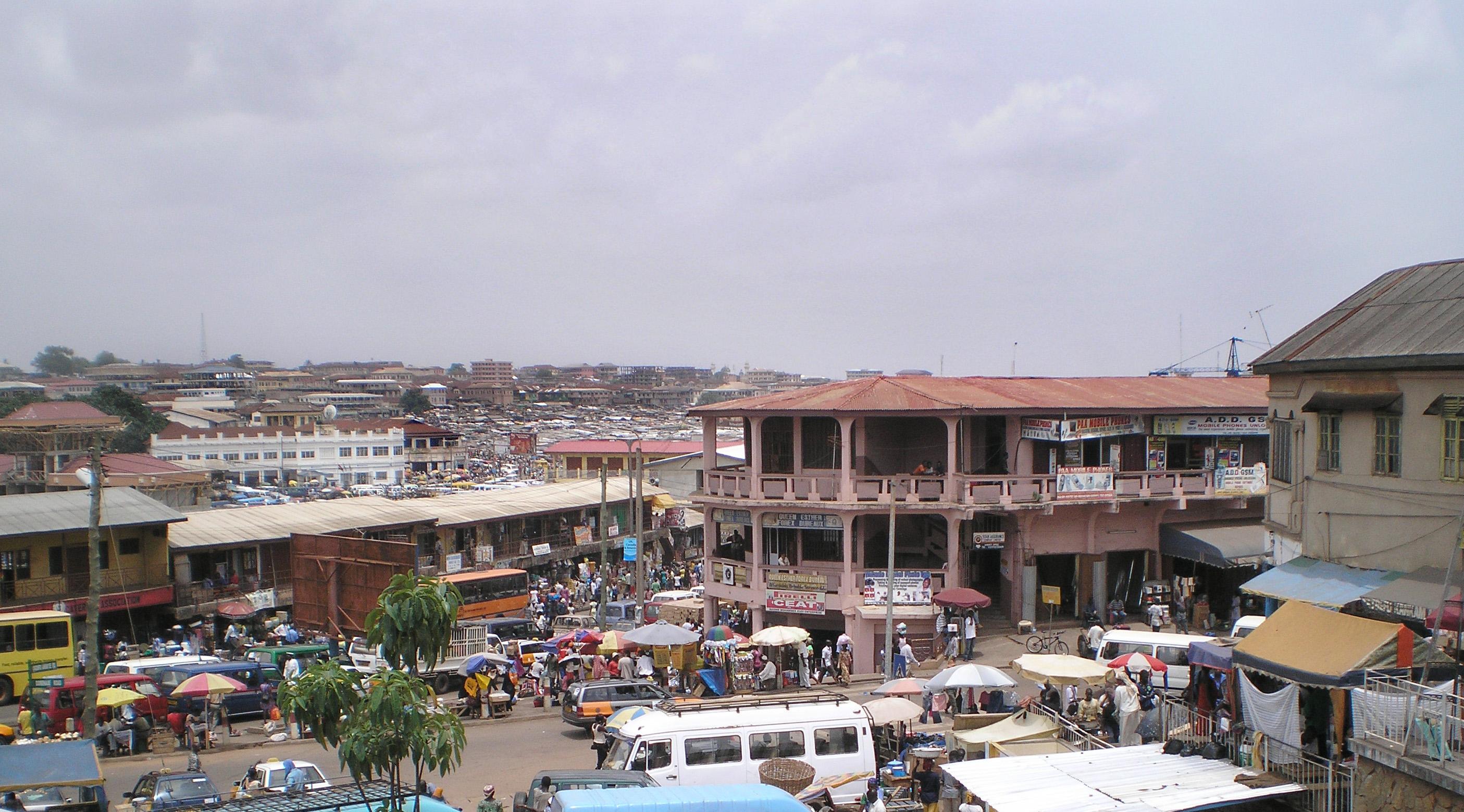 File Downtown Kumasi Ghana Jpg Wikimedia Commons