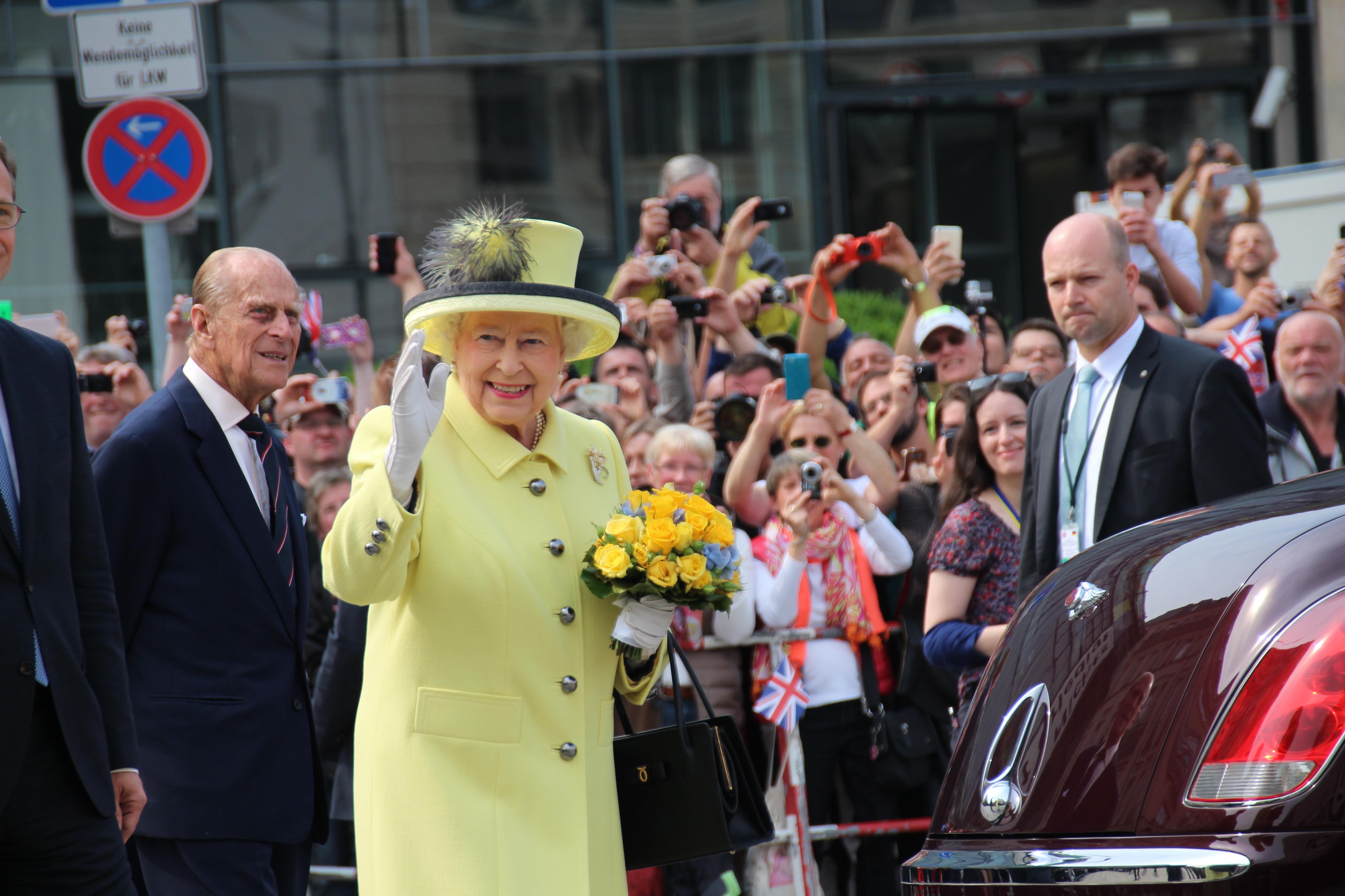 Depiction of Isabel II del Reino Unido