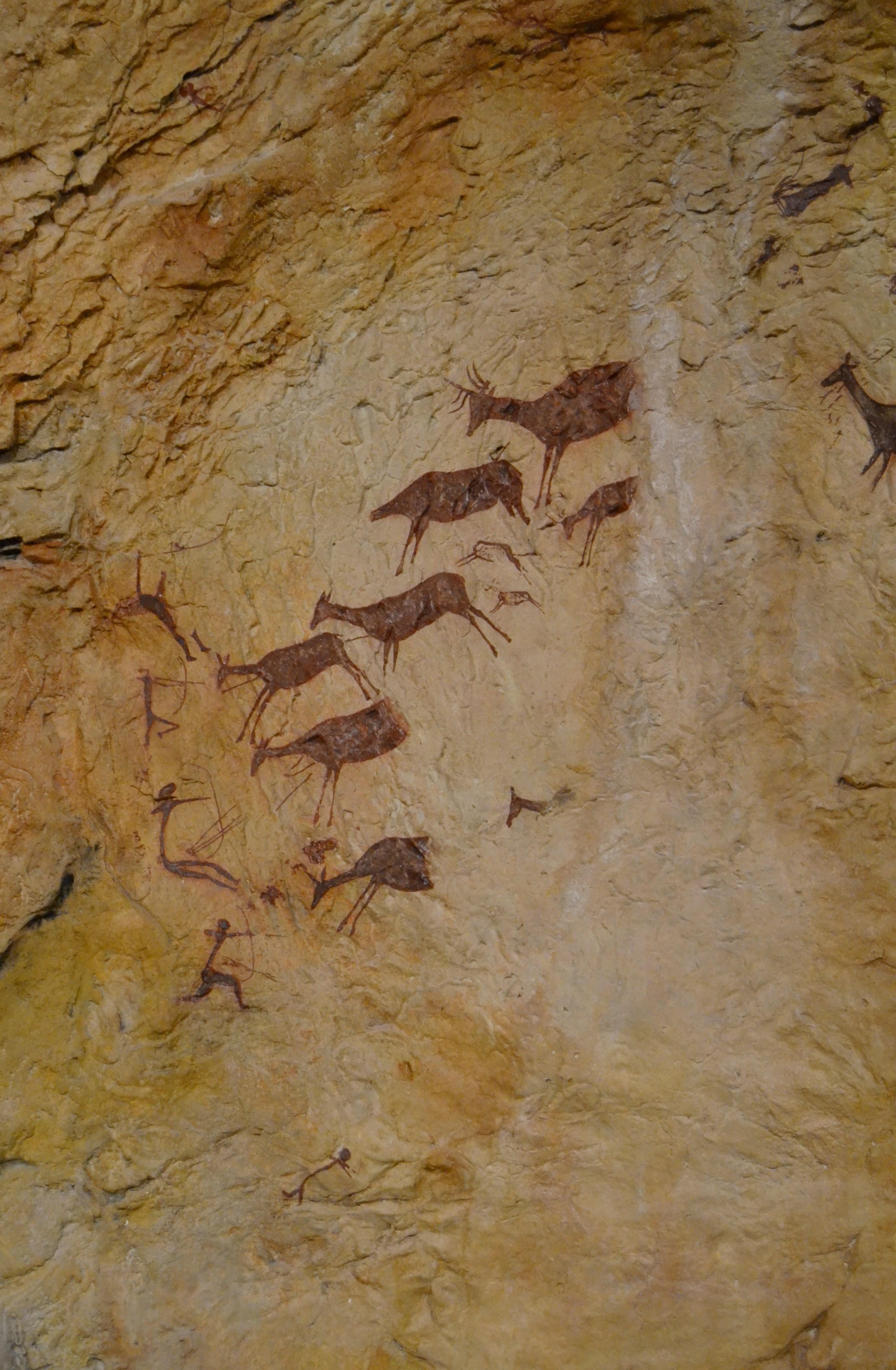 Fileescena De Caça De La Cova Dels Cavalls Reproducció Del