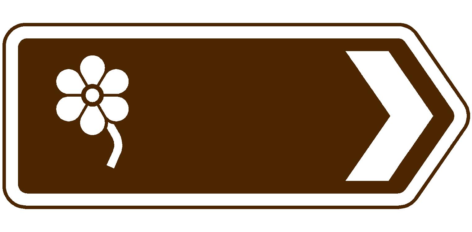 file:flower garden uk brown sign - wikimedia commons