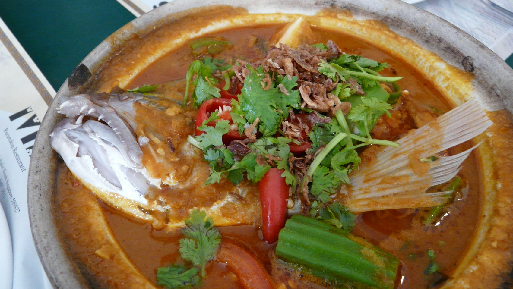 fish head curry singapore fish head curry is a curry dish popular in ...