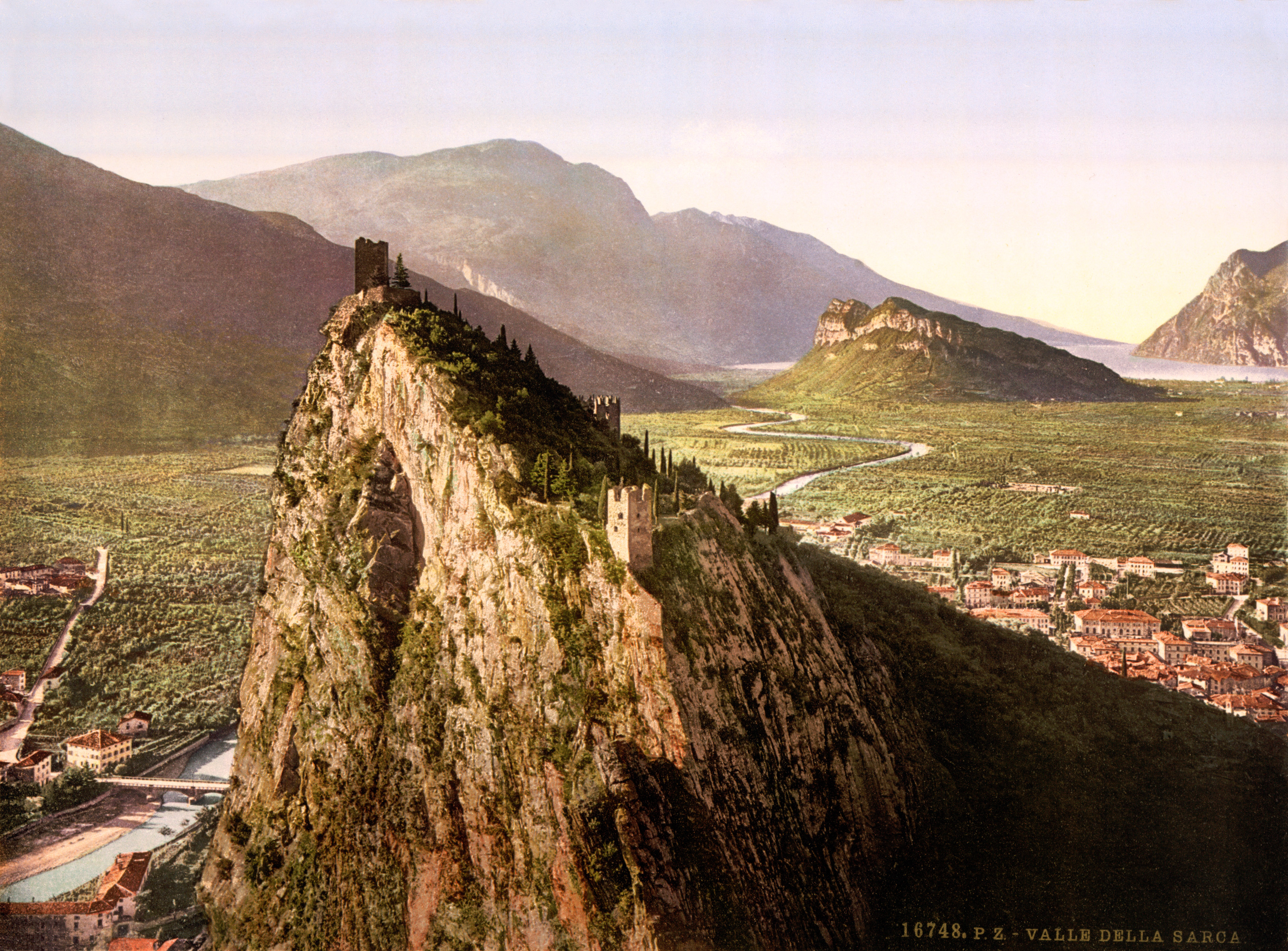 Arco Italy  city pictures gallery : ... the Sarca near Arco, Trento, Italy, ca. 1899 Wikimedia Commons