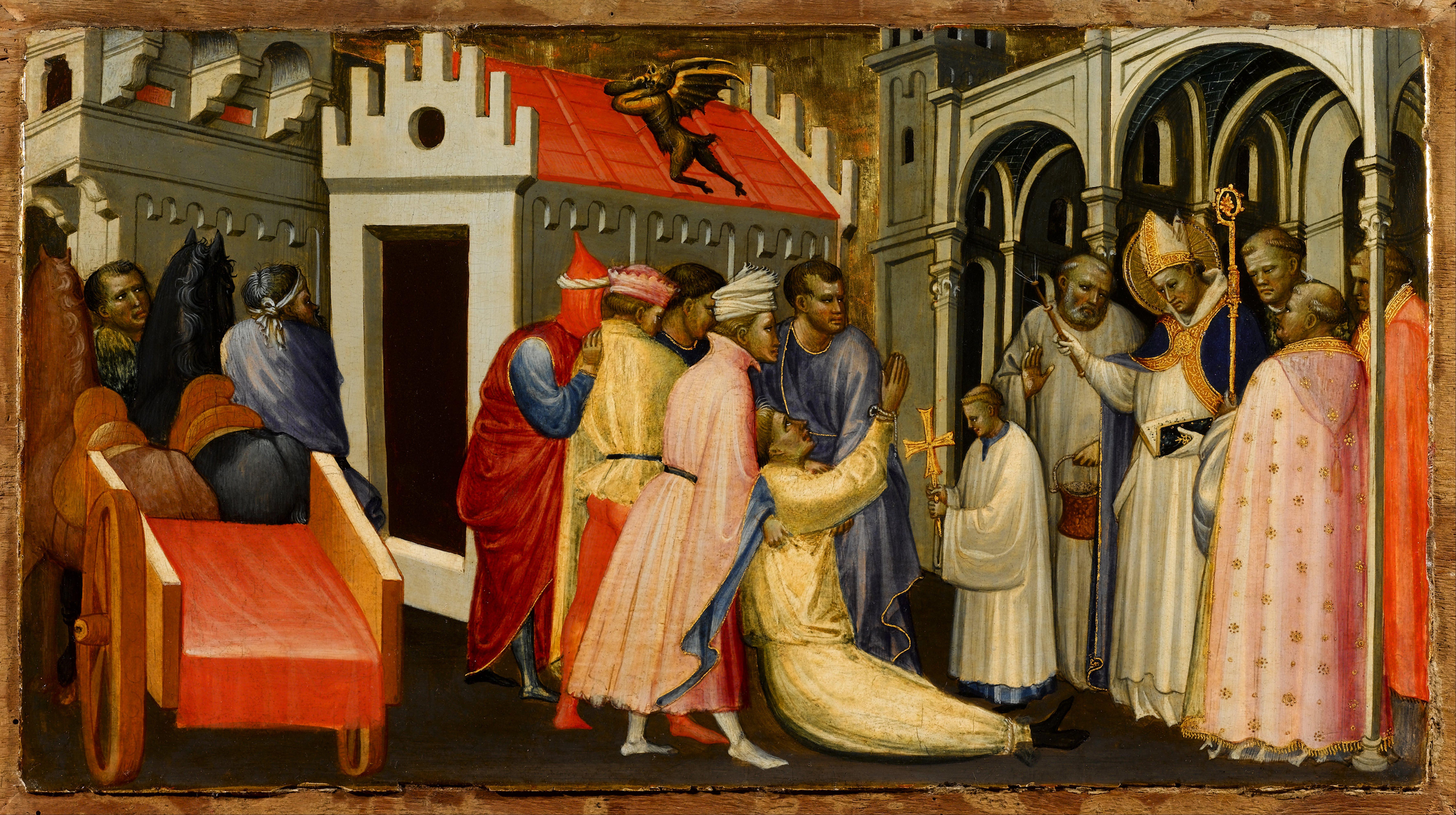 File Gherardo Sternina Saint Hugh Of Lincoln Exorcises A