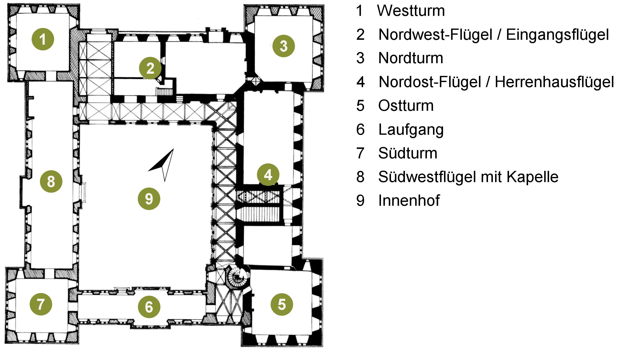 file grundriss schloss horst mit wikimedia commons. Black Bedroom Furniture Sets. Home Design Ideas