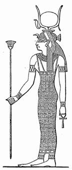 典型的なハトホル女神の図像