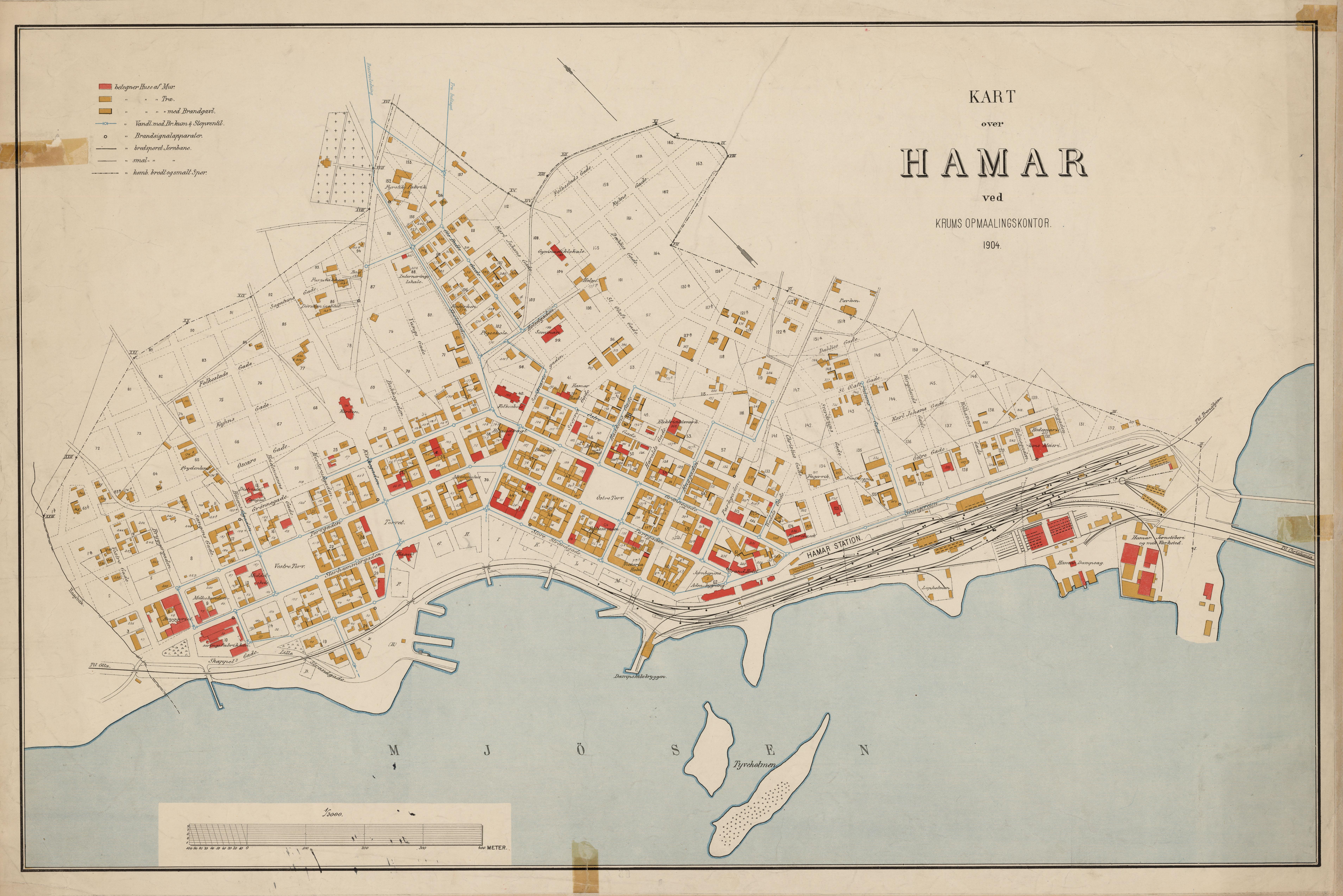 File Hedmarkens Amt Nr 55 Kart Over Hamar Hamar 1904 Jpg