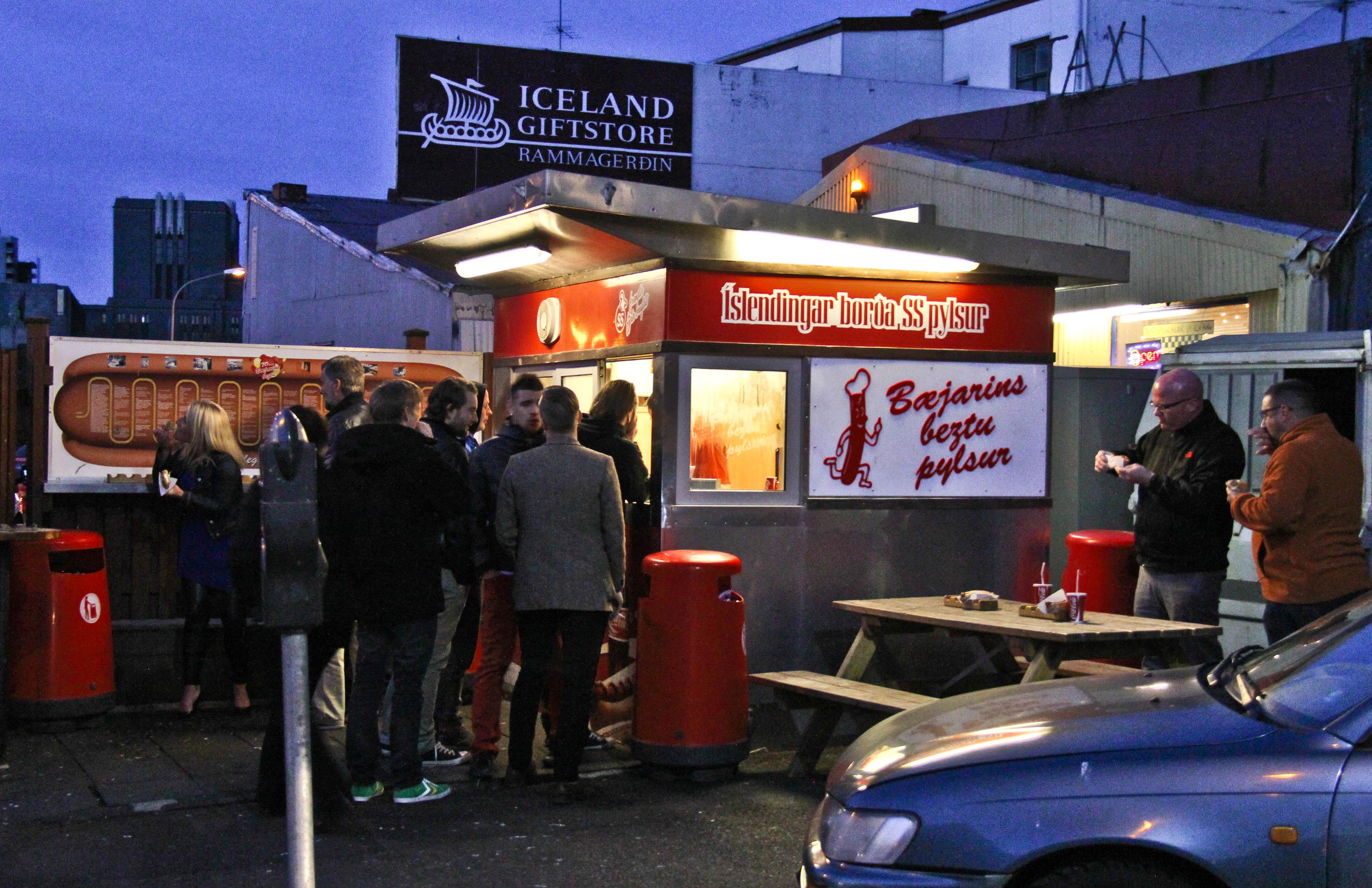 Hot Dog Stand Reykjavik Iceland