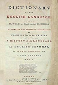 English: Volume One of Samuel Johnson's A Dict...