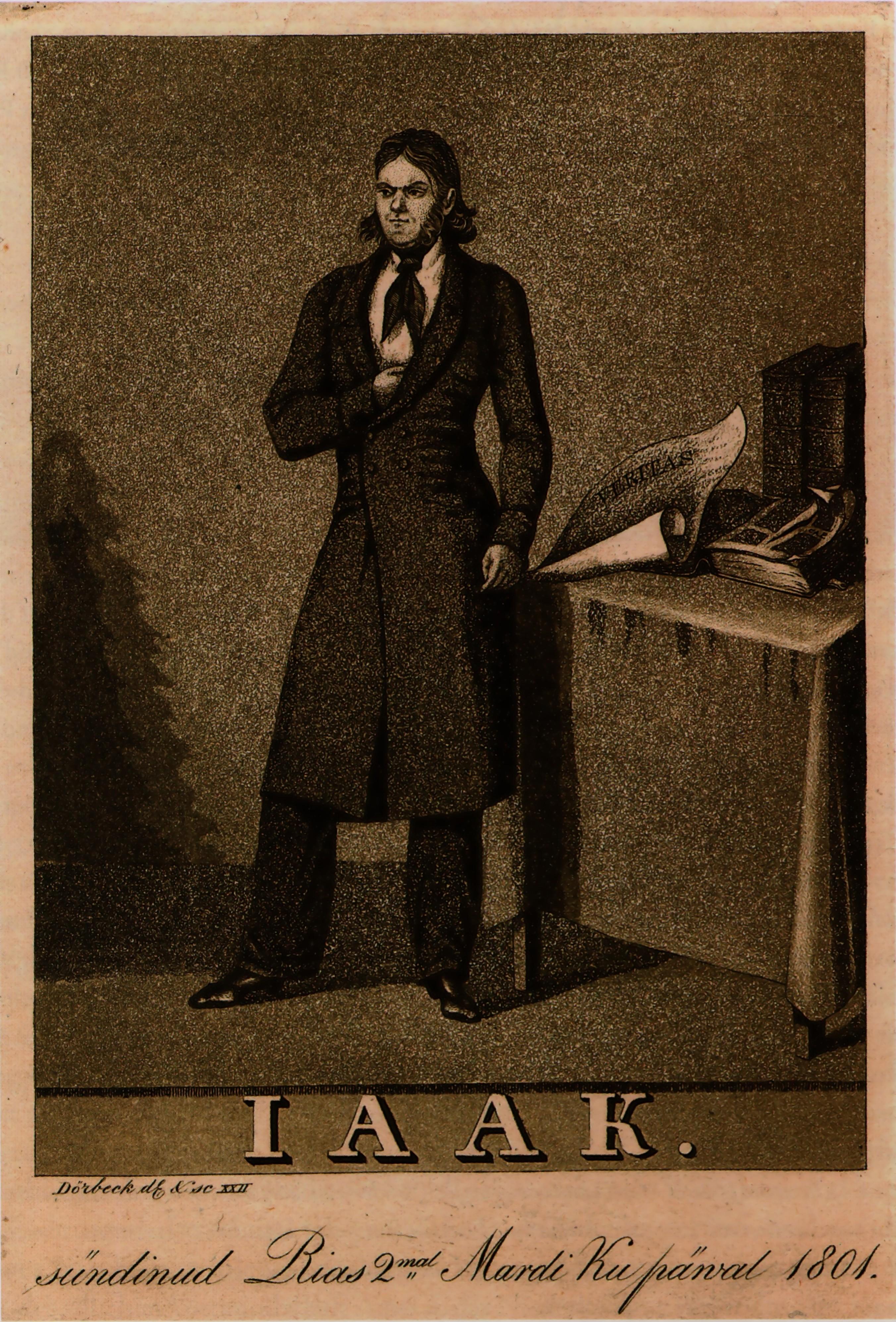 Pintura de Franz Burchard Dörbecki sobre el poeta. Fuente: wikipedia