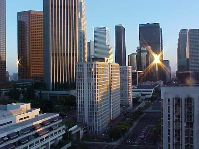 The Financial District of Downtown Los Angeles