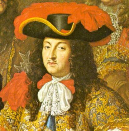 Ludwig XIV. mit Jabot