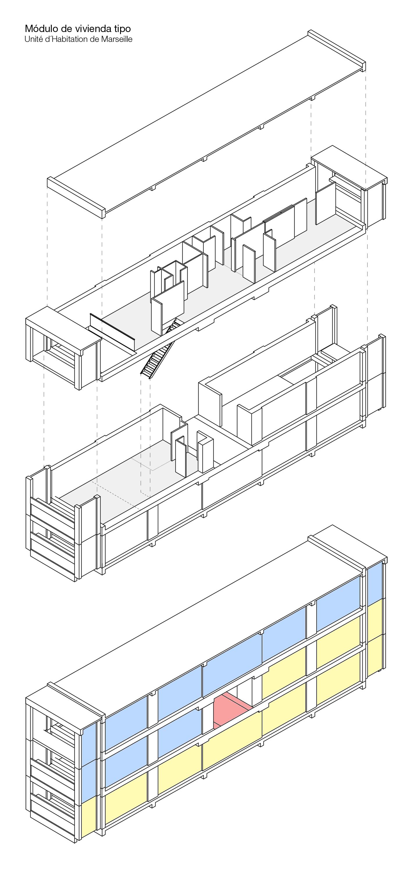 File m dulo de vivienda tipo de unit d wikimedia commons - Unite d habitation dimensions ...