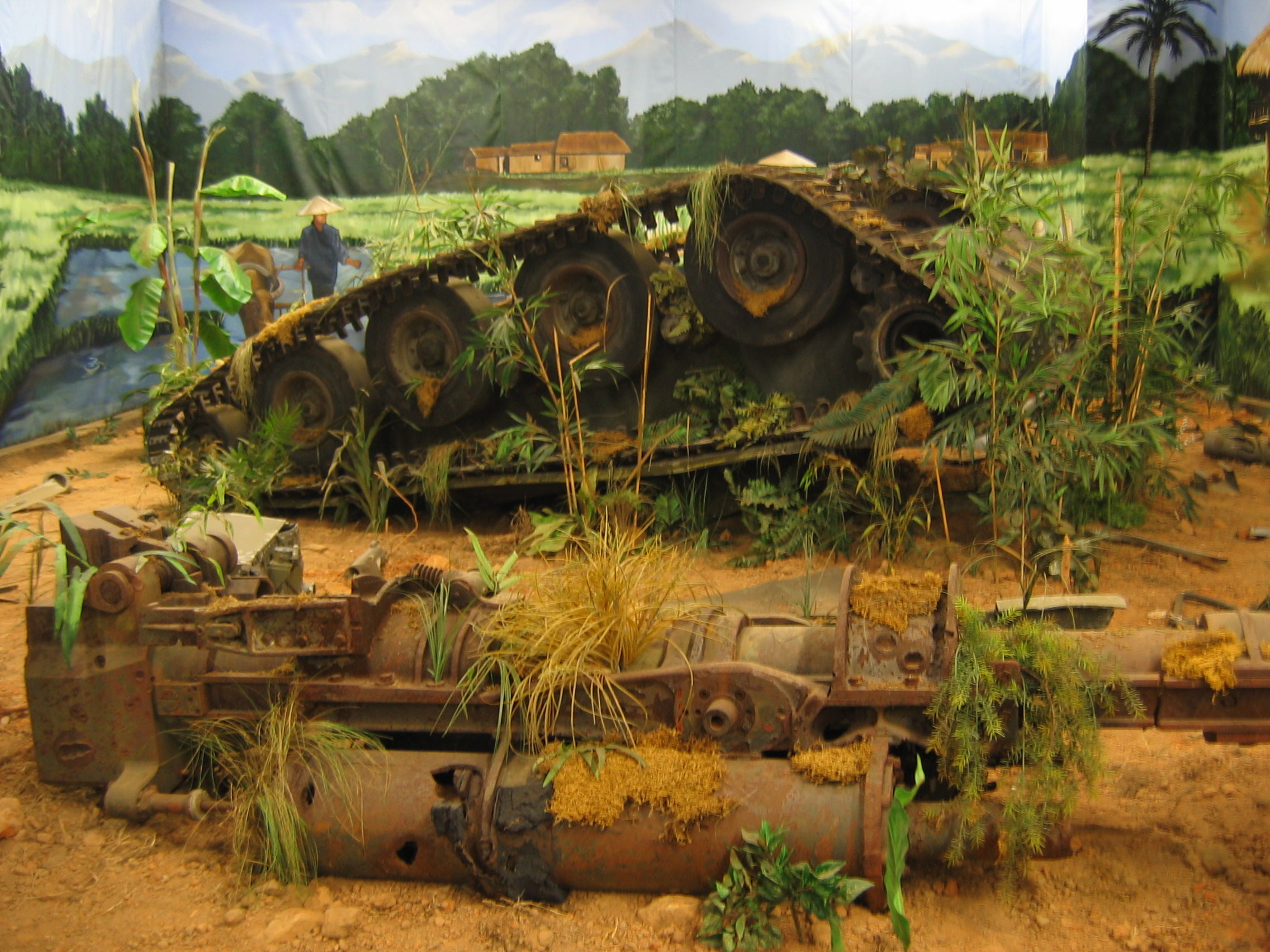 Model Tank Dioramas http://en.wikipedia.org/wiki/File:M56_Diorama_of_Destroyed_M56_at_AAF_Tank_Museum.jpg