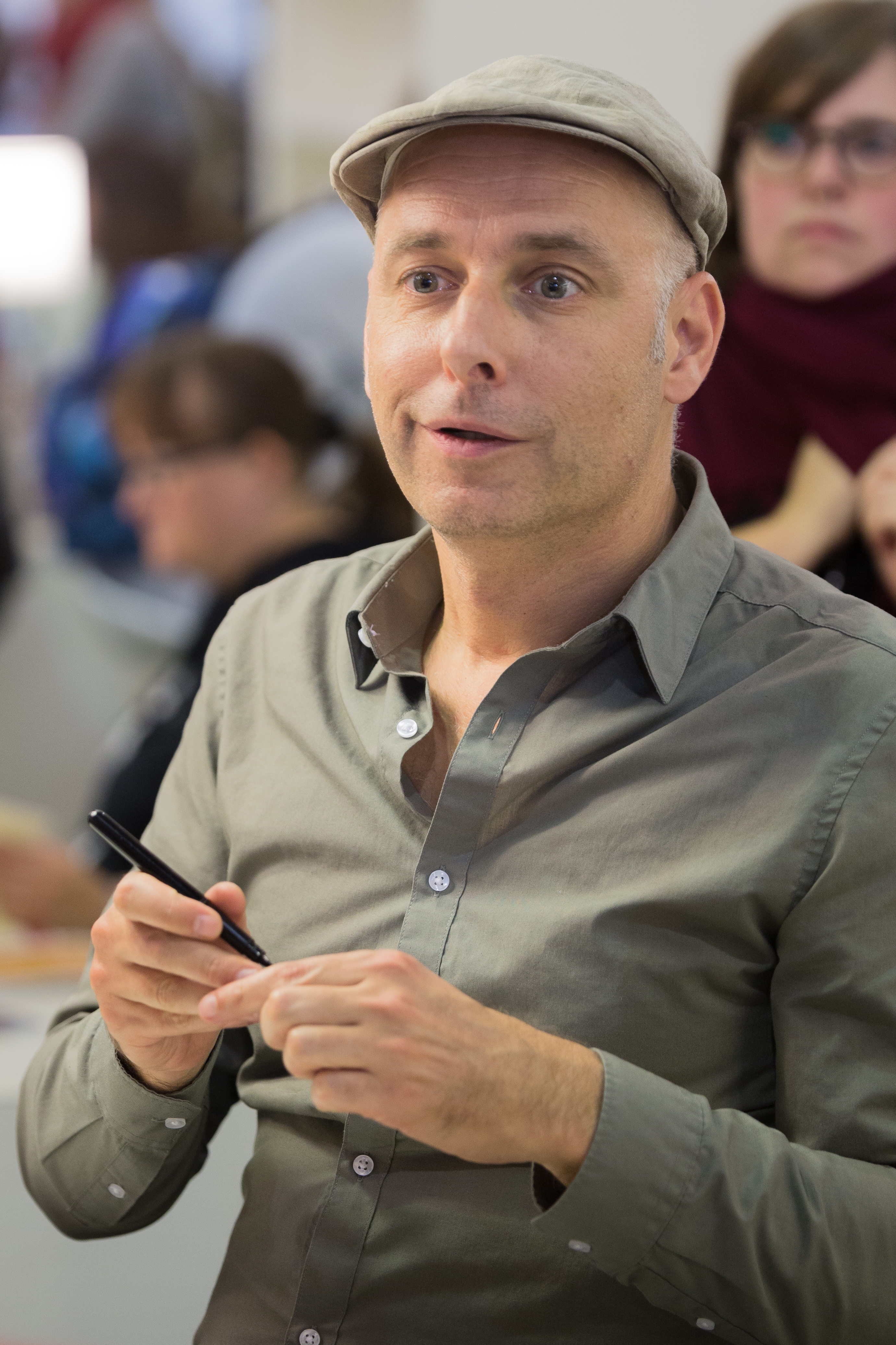 Reinhard Kleist at the [[Frankfurt Book Fair